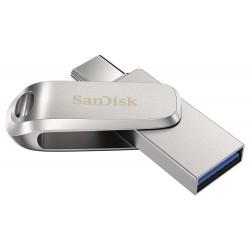 SanDisk Ultra Dual Drive Luxe USB-C 256GB / USB 3.0 Typ-C /  USB 3.0 Typ-A / stříbrný