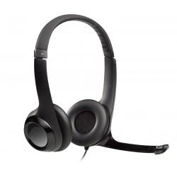 Logitech Headset Stereo H390/ drátová sluchátka + mikrofon/ USB/ černá