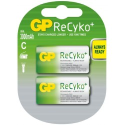 GP nabíjecí baterie C (R14) NiMH 3000mAh Recyko+ 2ks blistr