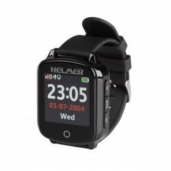 HELMER seniorské hodinky LK 706 s GPS lokátorem/ dot. display/ snímač srdečního tepu/ micro SIM/ IP65/ kom. s Andr., iOS