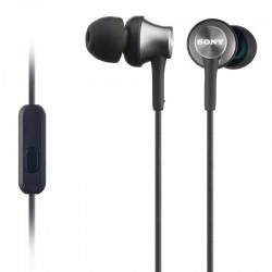 SONY headset do uší MDREX450APH/ sluchátka drátová + mikrofon/ 3,5mm jack/ citlivost 106 dB/mW/ šedá
