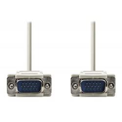 NEDIS kabel VGA (D-SUB)/ zástrčka VGA - zástrčka VGA/ slonovinová/ 2m