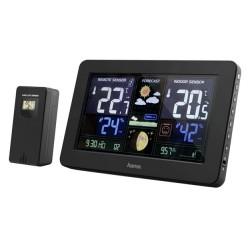 HAMA meteostanice Premium/ nabíjecí funkce USB/ černá