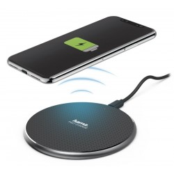 HAMA bezdrátová nabíječka FC10/ Qi/ 10 W/ 5V/2A | 9V/1,67A/ micro USB/ černá