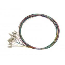 Solarix pigtail LC pc, MM 50/125, 1,5m, balení 12ks barevně rozlišeno,  SXPI-LC-PC-OM2-1,5M-12PCK