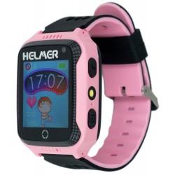 HELMER dětské hodinky LK 707 s GPS lokátorem/ dotykový display/ IP65/ micro SIM/ kompatibilní s Android a iOS/ růžové