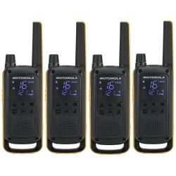 Motorola TLKR T82 Extreme Quadpack vysílačka (4 ks, dosah až 10 km), IPx4, černo/žlutá