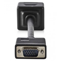 NEDIS rozbočovač kabel VGA/ 1x VGA (M) - 2x VGA (F)/ 20cm/ černý