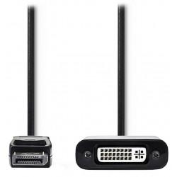 NEDIS redukční kabel DisplayPort/ zástrčka DisplayPort - zásuvka DVI-D 24+1p/ černý/ 20cm