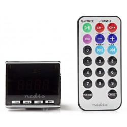 NEDIS FM vysílač do auta (Transmitter)/ 12V/ micro SD/ jack 3,5 mm/ LCD display/ dálkový ovladač/ černý