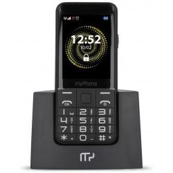 "MyPhone Halo Q Senior - černý s nabíjecím stojánkem  2,8"" TFT/ microSD až 32GB/ 2G/ foto 2Mpx"