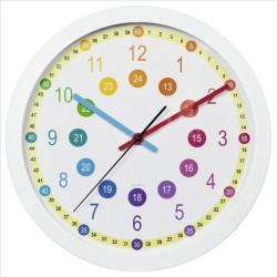 HAMA dětské nástěnné hodiny Easy Learning/ průměr 30 cm/ tichý chod/ 1x AA baterie/ bílé