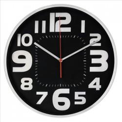 HAMA nástěnné hodiny Emotion/ průměr 30 cm/ tichý chod/ 1x AA baterie/ černo-stříbrné