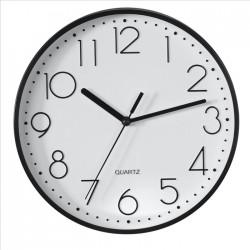 HAMA nástěnné hodiny PG-220/ průměr 22 cm/ tichý chod/ 1x AA baterie/ černé