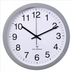 HAMA nástěnné hodiny PG-300/ průměr 30 cm/ řízené rádiovým signálem/ tichý chod/ 1x AA baterie/ šedé