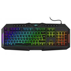 HAMA uRage gamingová semi-mechanická klávesnice Exodus 700/ drátová/ podsvícená/ USB/ CZ+SK/ černá
