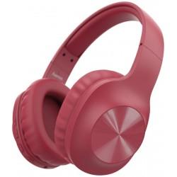 HAMA headset Calypso/ bezdrátová sluchátka + mikrofon/ uzavřená/ Bluetooth/ citlivost 100 dB/ červená