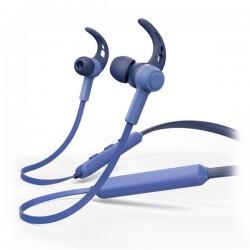 HAMA headset Connect Neck/ bezdrátová sluchátka + mikrofon/ špuntová/ Bluetooth/ citlivost 96 dB/mW/ modrá