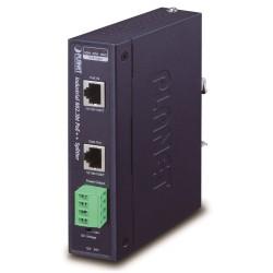 Planet IPOE-173S, Ultra PoE průmyslový splitter 802.3bt do 70W, výstup 12V/24VDC, 1Gb, DIN, IP30, -40~75st., PoH