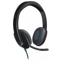 Logitech Headset Stereo H540/ drátová sluchátka + mikrofon/ USB/ černá