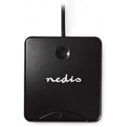 NEDIS čtečka čipových karet CRDRU2SM1BK/ Smart Card ID-1/ eObčanka/ standartní biometrické čipy/ USB 2.0/ černá