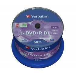 VERBATIM DVD+R DoubleLayer 8,5GB/ 8x/ MATT SILVER/ 50pack/ spindle