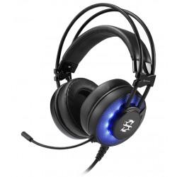 Sharkoon sluchátka Skiller SGH2, USB, modré LED podsvícení