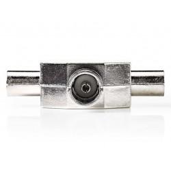 NEDIS koaxiální rozbočovač/ 2x IEC (koaxiální) zástrčka - IEC (koaxiální) zásuvka/ kov