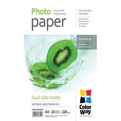 COLORWAY fotopapír/ dual-side matte 220g/m2, A4/ 20 kusů