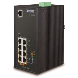 Planet IGS-4215-4P4T Gigabit PoE switch 4x TP+4x POE, 802.3af 140W, IP30, -40 až 75°C, SNMP,IGMPv3