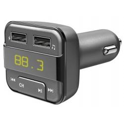 HAMA Bluetooth FM transmitter/ 2x USB/ CL adaptér/ vhodné pro mobil/ šedý