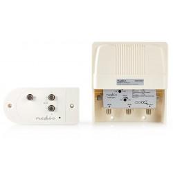 NEDIS sada zesilovače a stožárového držáku/ VHF/ UHF/ maximální zesílení 25 dB/ konektor F/ bílý