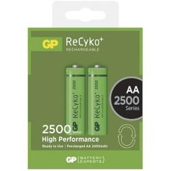 GP nabíjecí baterie AA NiMH 2500mAh Recyko+ 2ks blistr