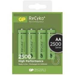 GP nabíjecí baterie AA NiMH 2500mAh Recyko+ 4ks blistr