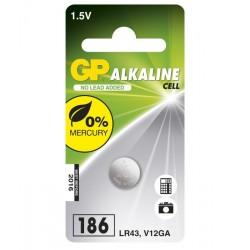 GP alkalická baterie 1,5V LR43 1ks blistr