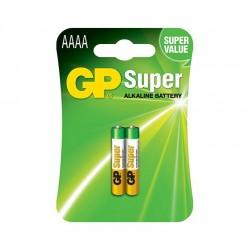 GP alkalická baterie 1,5V AAAA (LR61, LR8D425) 2ks blistr