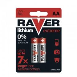 GP lithiová baterie 1,5V RAVER AA (R6) Extreme 2ks blistr
