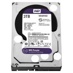 """WD HDD PURPLE 3TB / WD30PURZ / SATA 6Gb/s / Interní 3,5"""" / 5400rpm / 64MB"""