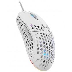 SPC Gear herní myš LIX onyx white / drátová / optická / PMW3325 / 800-8000dpi/1000Hz/ 6 tlačítek/ 59g / RGB / USB / bílá