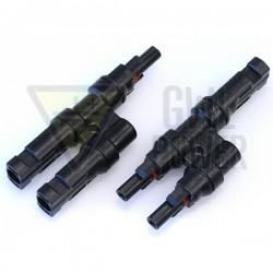 GWL/POWER MC4 T- rozbočovací konektor 1 na 2 (sada Male + Female)