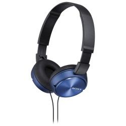 SONY sluchátka náhlavní MDRZX310L/ drátová/ 3,5mm jack/ citlivost 98 dB/mW/ modrá