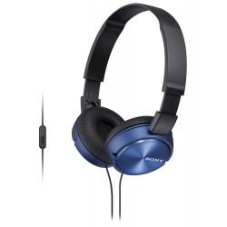 SONY headset náhlavní MDRZX310APL/ sluchátka drátová + mikrofon/ 3,5mm jack/ citlivost 98 dB/mW/ modrá