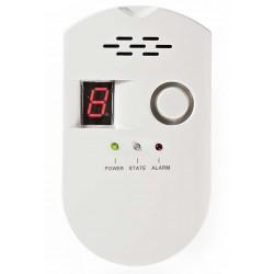 NEDIS detektor plynu/ EN50194/ hlasitost 85 dB/ síťové napájení/ výdrž snímače 10 let/ bílý