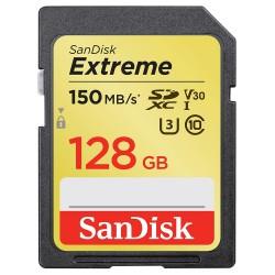 SanDisk Extreme Card 128GB SDXC / CL10 / UHS-I U3 V30 / 150mb/s