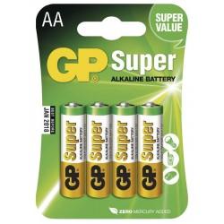 GP alkalická baterie 1,5V AA (LR6) Super 4ks blistr