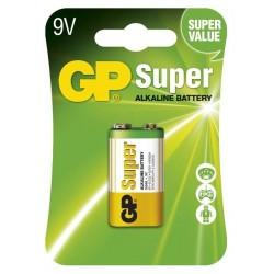 GP alkalická baterie 9V (6LF22 ) Super 1ks blistr