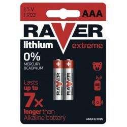 GP lithiová baterie 1,5V RAVER AAA (R03) Extreme 2ks blistr