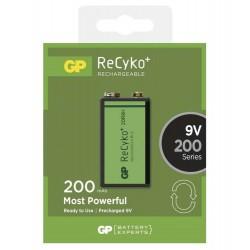 GP nabíjecí baterie 9V (GF22) NiMH 200mAh ReCyko+ 1ks blistr