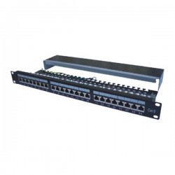 "DATACOM Patch panel 19"" STP 24 port CAT6 LSA 1U BK (3x8p) / VL"