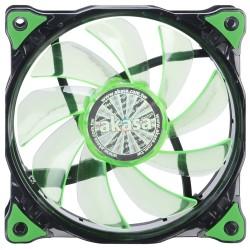 AKASA LED ventilátor Vegas / AK-FN091-GN / 120mm / výška 25mm/ 3pin PWM/ zelený